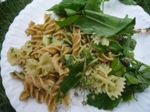 wild garlic pesto and pasta
