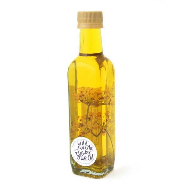 wild garlic flower olive oil